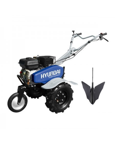 HYUNDAI Motoculteur motobineuse charrue + 6 fraises HMTC100