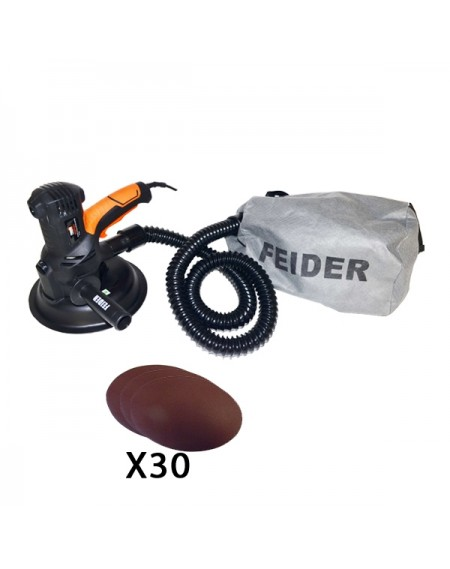 FEIDER - Ponceuse à platre 710W + 30 abrasifs offerts - FPP800