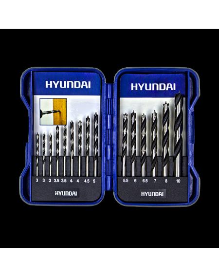 Hyundai Coffret 15 mèches à bois fôrets HCO15