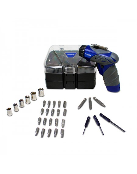 HT36VL COFFRET HYUNDAI TOURNEVIS 3.6 VOLTS BATTERIE LITHIUM ION